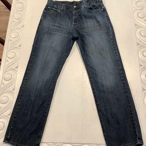 Alfani Macy's Bootcut Jeans Denim 34x32 Dark Wash